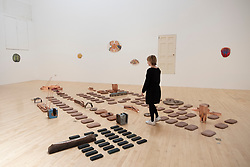 Exhibition by Lucy Skaer entitled La Chasse at the White Gallery in Talbot Rice Gallery in University of Edinburgh,Edinburgh, Scotland, UK