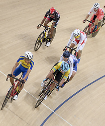 JAKARTA, Jan. 11, 2019  Cyclists compete during the Omnium Men Elite Point Race of 39th Asian Track Championships in Jakarta , Indonesia, Jan. 11, 2019. (Credit Image: © Veri Sanovri/Xinhua via ZUMA Wire)