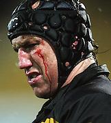 Taranaki captain Tony Penn.<br /> Air New Zealand Cup rugby match - Taranaki v Auckland at Yarrows Stadium, New Plymouth, New Zealand. Friday 9 October 2009. Photo: Dave Lintott/PHOTOSPORT