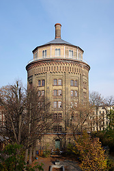 External view of historic water tower , Wasserturm, at Prenzlauer Berg in Berlin, Germany
