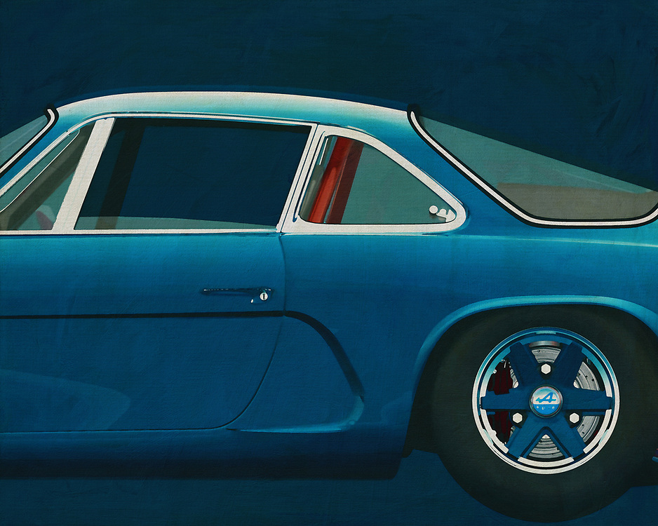Renault Alpine<br /> The Alpine Renault is also known as the Berlinette and was introduced by Alpine in 1962.<br /> After Renault took over Alpine they competed in the World Rally Championship in 1973 which they also won. -<br /> <br /> BUY THIS PRINT AT<br /> <br /> FINE ART AMERICA<br /> ENGLISH<br /> https://janke.pixels.com/featured/2-painting-of-a-renault-alpine-jan-keteleer.html<br /> <br /> WADM / OH MY PRINTS<br /> DUTCH / FRENCH / GERMAN<br /> https://www.werkaandemuur.nl/nl/shopwerk/Alpine-Renault-1600-S-1973-Zijgedeelte-/571758/132