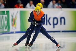 14-01-2011 SHORTTRACK: ISU EUROPEAN SHORTTRACK SPEEDSKATING CHAMPIONSHIPS: HEERENVEEN<br /> Freek van der Wart and Niels Kerstholt in action on 5000m relay<br /> ©2011-WWW.FOTOHOOGENDOORN.NL
