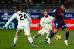 December 9, 2018 - Huesca, Aragon, Spain - Cucho Hern‡ndez of SD Huesca (9) during the LaLiga match between SD Huesca and Real Madrid at El Alcoraz. (Credit Image: © Daniel Marzo/Pacific Press via ZUMA Wire)