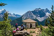 Paget Peak Lookout and Cathedral Mountain. Yoho National Park, British Columbia, Canada.