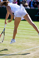 LONDON, ENGLAND - Wednesday, June 25, 2008: August's Playboty babe... Ashley Harkleroad (USA) during her first round doubles match on day three of the Wimbledon Lawn Tennis Championships at the All England Lawn Tennis and Croquet Club. (Photo by David Rawcliffe/Propaganda)