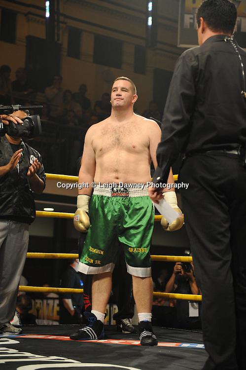 Kevin McBride defeats Franklin Egobi at Prizefighter The Heavyweights 9th Ocrtober 2010 at York Hall, Bethnal Green, London. Prizefighter/Matchroom Sport. Barry & Eddie Hearn © Photo credit: Leigh Dawney