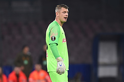 March 7, 2019 - Naples, Naples, Italy - Alexander Walke of RB Salzburg during the UEFA Europa League match between SSC Napoli and RB Salzburg at Stadio San Paolo Naples Italy on 7 March 2019. (Credit Image: © Franco Romano/NurPhoto via ZUMA Press)