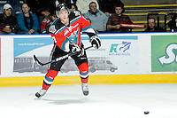 KELOWNA, CANADA, OCTOBER 26:  Damon Severson #7 of the Kelowna Rockets makes a pass as the Prince George Cougars visit the Kelowna Rockets  on October 26, 2011 at Prospera Place in Kelowna, British Columbia, Canada (Photo by Marissa Baecker/Shoot the Breeze) *** Local Caption ***Damon Severson;