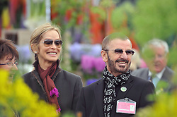 BARBARA BACH and RINGO STARR at the RHS Chelsea Flower Show 2009 held inthe gardens of the Royal Hospital Chelsea on 18th May 2009.