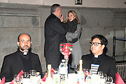 MADRID, SPAIN, 2015, DECEMBER 24<br /> <br />  Genoveva Casanova works with Father Angel happy to offer a Christmas dinner for the homeless. In the glazed courtyard of Cibeles, 22 exclusive tables mounted with a five-star menu: seafood soup, shrimp and lamb-that yes, nothing alcohol- illustrious guests for Father Angel. About twenty people arrived without tickets but were looking for a cover. And throughout the evening, entrepreneurs and volunteers appeared anonymously to provide drinks and gifts.<br /> ©Exclusivepix Media