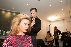 "Maria gets her hair done by John Gillespie..Filming of ""Ma Way"", Maria Fowler's guide to Perth..© Michael Schofield."