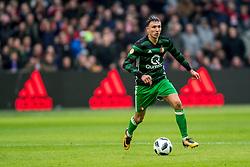 21-01-2018 NED: AFC Ajax - Feyenoord, Amsterdam<br /> Ajax was met 2-0 te sterk voor Feyenoord / Steven Berghuis #19 of Feyenoord