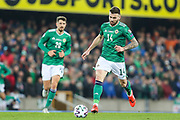 Northern Ireland midfielder Stuart Dallas (14) during the UEFA European 2020 Qualifier match between Northern Ireland and Netherlands at National Football Stadium, Windsor Park, Northern Ireland on 16 November 2019.