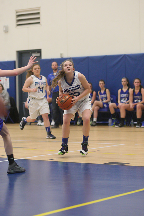 Panama NY Girls High School Basketball playoff section 6 against Westfield NY at Panama Thursday February 26, 2015 Photo by Mark L. Anderson