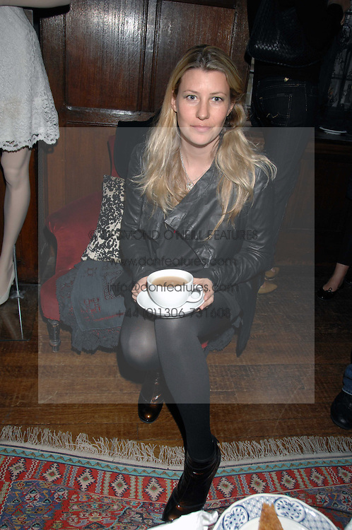 SARA PARKER BOWLES at a tea party to launch Pearl Lowe's Spring 2007 fashion collection held at Libery, Great Marlborough Street, London on 20th March 2007.<br />NON EXCLUSIVE - WORLD RIGHTS
