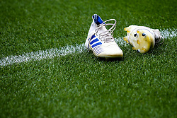 Boots left on the side during Bristol City's warm up at Birmingham City - Mandatory by-line: Robbie Stephenson/JMP - 10/08/2019 - FOOTBALL - St Andrew's Stadium - Birmingham, England - Birmingham City v Bristol City - Sky Bet Championship