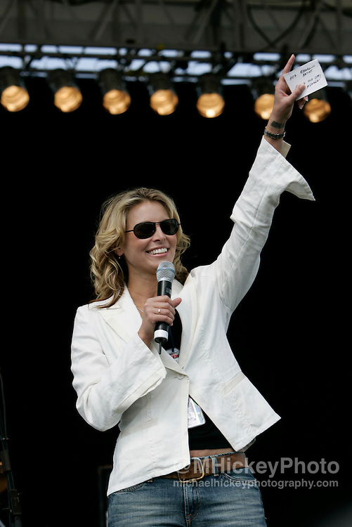 Model Niki Taylor appears at the Allstate 400 at the Brickyard at the Indianapolis Motor Speedway. Photo by Michael Hickey