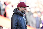 Liverpool Manager Jurgen Klopp during the Premier League match between Liverpool and Cardiff City at Anfield, Liverpool, England on 27 October 2018.