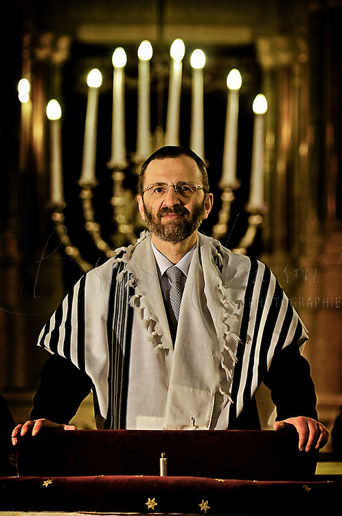 PARIS, FRANCE - FEVRIER, 01: Gilles BERNHEIM, Chief Rabbi of France.<br /> Before his election, Gilles Bernheim celebrated a bar mitzvah.<br /> Aged 56, Gilles Bernheim becomes the Chief Rabbi of the synagogue de la Victoire in Paris. The new Grand Rabbi of France is elected for a seven years mandate and will be taking up his duties on the first of january 2009, according to the status of the central consistory.<br /> Gilles Bernheim won on opposition Joseph Sitruk and becomes the highest judaic french authority. Aged 56, Gilles Bernheim becomes the <br /> Chief Rabbi of the synagogue de la Victoire in Paris. He won by an overwhelming majority of 184 votes against 99, he is replacing Joseph Sitruk, 63, Chief Rabbi of France since 1988.<br /> On a trip to Toulouse in february to hold a conference, Gilles Bernheim stood for the second time in forteen years as candidate to Grand Rabbi of France against the outgoing Grand Rabbi Joseph Sitruk.<br /> Gilles Bernheim is an alternative at the hands of a too conservative current of the jew community, and is reputed to be the most opened to civil society and to other religions.<br /> The new Grand Rabbi of France is elected for a seven years mandate and will be taking up his duties on the first of january 2009, according to the status of the central consistory.