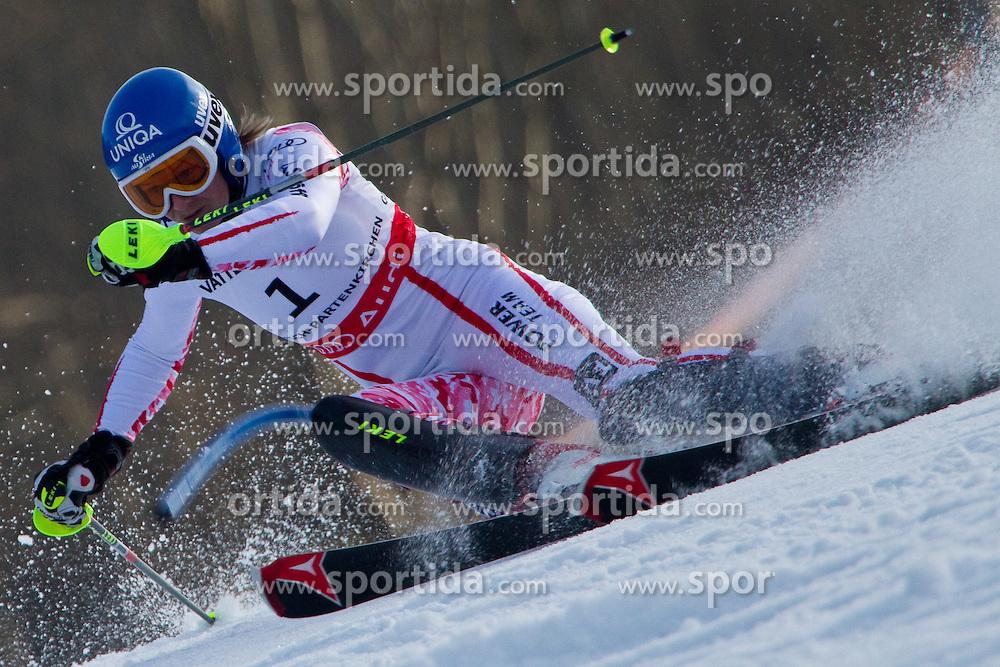 19.02.2011, Gudiberg, Garmisch Partenkirchen, GER, FIS Alpin Ski WM 2011, GAP, Damen, Slalom, im Bild Gold Medaille und Weltmeister Marlies Schild (AUT) // Gold Medal and World Champion Marlies Schild (AUT)  during Ladie's Slalom Fis Alpine Ski World Championships in Garmisch Partenkirchen, Germany on 19/2/2011. EXPA Pictures © 2011, PhotoCredit: EXPA/ M. Gunn
