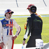 May 06, 2017 - Talladega, Alabama, USA: Ryan Blaney (21) hangs out on pit road during qualifying for the GEICO 500 at Talladega Superspeedway in Talladega, Alabama.