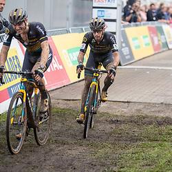 13-10-2019: Cycling: Superprestige Cyclocross: Gieten<br /> Corne van Kessel (NL) 3th and Lars van der Haar 4th