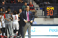 "Ole Miss coach Matt Insell vs. Christian Brothers in an exhibition basketball game at the C.M. ""Tad"" Smith Coliseum in Oxford, Miss. on Friday, November 7, 2014. (AP Photo/Oxford Eagle, Bruce Newman)"