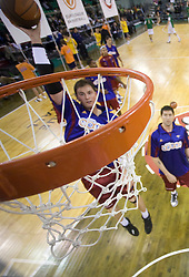 Primoz Brezec (12) at basketball match of 3rd Round of Euroleague between KK Union Olimpija (SLO) and Lottomatica Roma (ITA), in Arena Tivoli, Ljubljana, Slovenia, on November 6, 2008. Lottomatica  won the match 78:67.