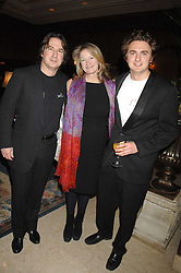 Left to right, MR MARTIN & the HON.LAURA LEVI and her son SONNY MALLET at a dinner to promote the Holders Season in Barbados held at The Four Seasons Hotel, Hamilton Place, London W1 on 30th January 2008.<br /> <br /> NON EXCLUSIVE - WORLD RIGHTS (EMBARGOED FOR PUBLICATION IN UK MAGAZINES UNTIL 1 MONTH AFTER CREATE DATE AND TIME) www.donfeatures.com  +44 (0) 7092 235465