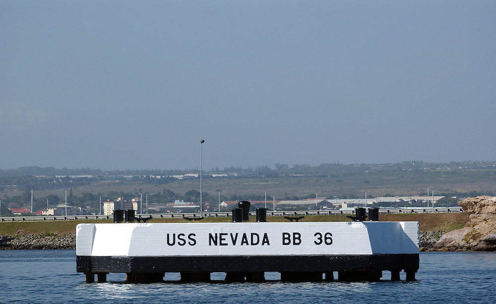 Former site of the U.S.S. Nevada Battleship at the Pearl Harbor Memorial in Honolulu, Dec. 20, 2005.&amp;#xA;&amp;#xA;David Calvert/Courtesy Nevada Media Services<br />
