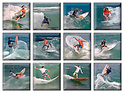 12 image surfing collage