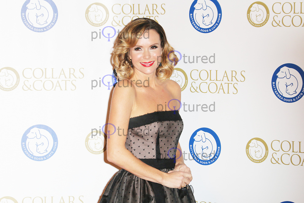 Amanda Holden, Battersea Dogs & Cats Home's Collars & Coats Gala Ball, Battersea Evolution, London UK, 07 November 2013, Photo by Richard Goldschmidt