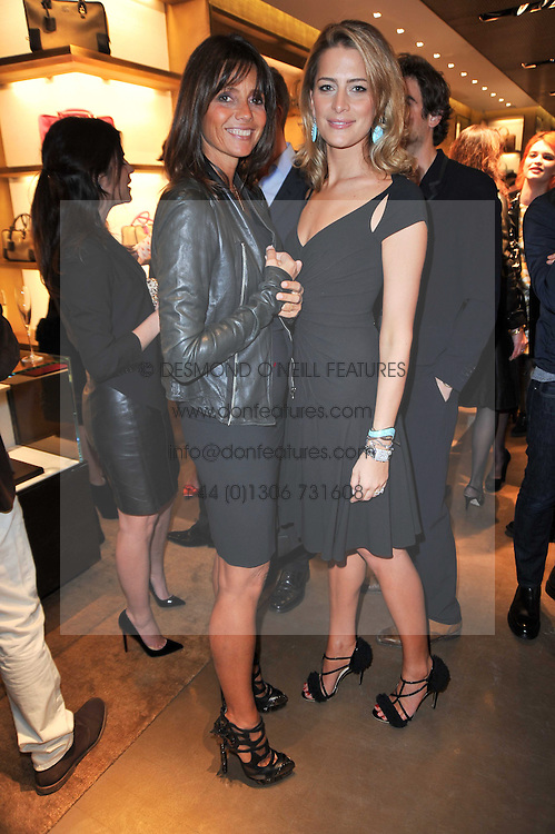 Left to right, COUNTESS DEBONAIRE VON BISMARCK and PRINCESS TATIANA OF GREECE at the opening of Loewe's new boutique at 125 Mount Street, London on 23rd March 2011.
