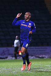 Rochdale's Calvin Andrew celebrates scoring Rochdale's fourth goal - Photo mandatory by-line: Matt McNulty/JMP - Mobile: 07966 386802 - 17.01.2015 - SPORT - Football - Rochdale - Spotland Stadium - Rochdale v Crawley Town - Sky Bet League One