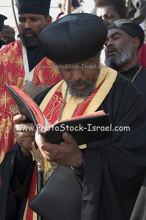 Ethiopian Priest Reading from the holy book