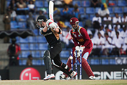 © Licensed to London News Pictures. 01/10/2012. New Zealander Brendon McCullum gets bowled during the T20 Cricket World super 8's match between New Zealand Vs West Indies at the Pallekele International Stadium Cricket Stadium, Pallekele. Photo credit : Asanka Brendon Ratnayake/LNP