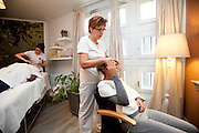 Strasbourg, France. 15 Fevrier 2011..Un salon de beaute dans les quartiers femmes de la maison d'arret de Strasbourg.....