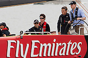 HRH Prince William, goes sailing aboard a Sail NZ America's Cup class yacht on the Waitamata Harbour, Auckland New Zealand with Emirates Team New Zealand team members Dean Barker and Kevin Shoebridge. 17/1/2010