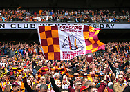Bradford City fans before the Sky Bet League 1 play-off final at Wembley Stadium, London<br /> Picture by Glenn Sparkes/Focus Images Ltd 07939664067<br /> 20/05/2017