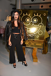 Georgia May Foote at the LFW Sponge Bob Gold presentation at The Atrium, The Store Studios, 180 The Strand, London England. 18 February 2017.