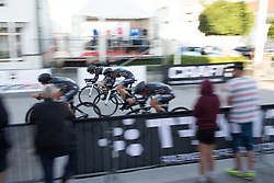 Drops Cycling Team approach the finish of the Crescent Vargarda - a 42.5 km team time trial, starting and finishing in Vargarda on August 11, 2017, in Vastra Gotaland, Sweden. (Photo by Balint Hamvas/Velofocus.com)