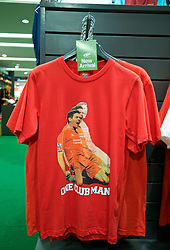BANGKOK, THAILAND - Sunday, July 12, 2015: 'New arrival... one club man' A Liverpool shirt featuring former player Steven Gerrard on sale at the Central World shopping mall ahead of the team's arrival in Thailand for the start of the club's preseason tour. (Pic by David Rawcliffe/Propaganda)