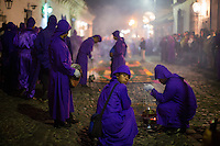 Antigua, Guatemala - March 08, 2015: Young men participate in a religious procession in Antigua. During Lent there are many extraordinary day-long processions, which honor the death and resurrection of Jesus Christ.  CREDIT: Chris Carmichael for The New York Times