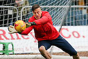 York City goalkeeper Michael Ingham during the Sky Bet League 2 match between Mansfield Town and York City at the One Call Stadium, Mansfield, England on 28 December 2015. Photo by Simon Davies.