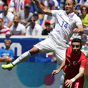 Brad Davis, USA, in action during the US Men's National Team Vs Turkey friendly match at Red Bull Arena.  The game was part of the USA teams three-game send-off series in preparation for the 2014 FIFA World Cup in Brazil. Red Bull Arena, Harrison, New Jersey. USA. 1st June 2014. Photo Tim Clayton