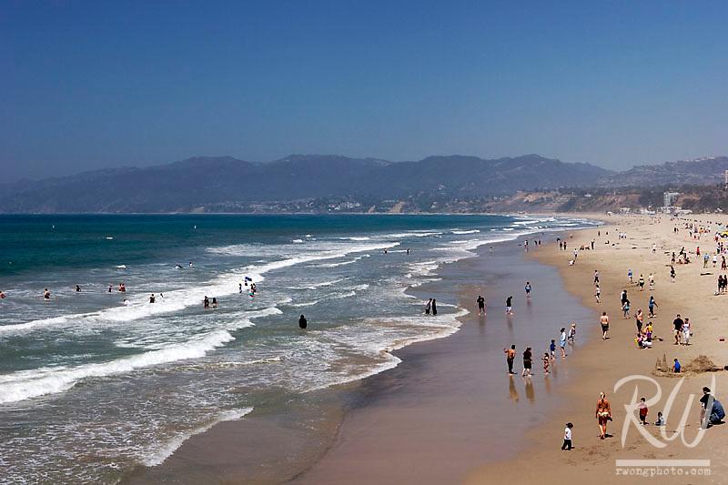 Santa Monica Beach View from Santa Monica Pier, California