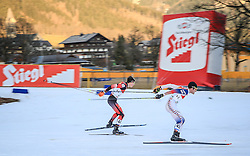 19.12.2015, Nordische Arena, Ramsau, AUT, FIS Weltcup Nordische Kombination, Langlauf, im Bild v. l: Paul Gerstgraser (AUT), Taylor Fletcher (USA) // Paul Gerstgraser of Austria, Taylor Fletcher of the United States of Ameria during Cross Country Competition of FIS Nordic Combined World Cup, at the Nordic Arena in Ramsau, Austria on 2015/12/19. EXPA Pictures © 2015, PhotoCredit: EXPA/ Martin Huber