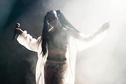 © Licensed to London News Pictures. 30/05/2014. Barcelona, Spain.   FKA Twigs performing live at Primavera Sound festival.  In this picture -  FKA Twigs (real name Tahliah Barnett).  FKA Twigs is a British R&B musician and dancer.  FKA stands for Formerly Known As.  Her second EP was rated 8/10 by Pitchfork & she was nominated by BBC's Sound of 2014 prize, and was chosen by Spotify for their Spotlight on 2014 list.  Primavera Sound, or simply Primavera, is an annual music festival that takes place in Barcelona, Spain in late May/June within the Parc del Fòrum leisure site. Photo credit : Richard Isaac/LNP