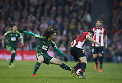 February 23, 2019 - Bilbao, Spain - Bilbao, northern Spain, Sunday, February, 23, 2019. Marc Cucurella, Ander Capa during the Spanish La Liga soccer match between Athletic Club Bilbao and S.D Eibar at San Mames stadium. (Credit Image: © Gtres/NurPhoto via ZUMA Press)