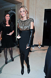 MASHA MARKOVA at a dinner in honour of Dennis Basso in celebration of his new boutique in Harrods held at Claridge's, Brook Street, London on 15th October 2009.